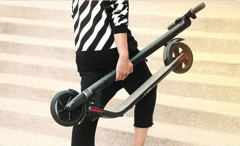 Faltsystem klappbarer E-Scooter zum klappen