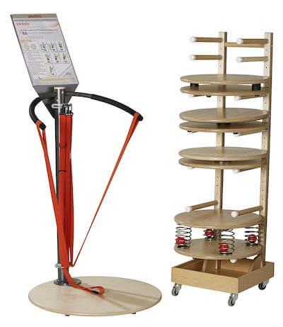 Physiostation Balancebrett mit Federn umfassende Bewegungstherapie